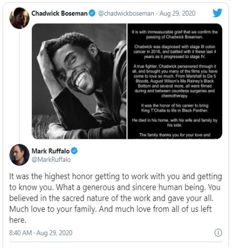 Chadwick Boseman - the kind who left too soon